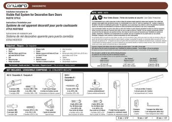 Rail 2460 bl rails de portes coulissantes - Porte coulissante scrigno fiche technique ...
