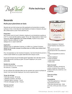 Secondo produits de finition huiles quincaillerie for Catalogue meuble pdf